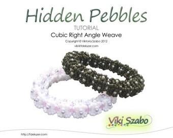 Cubic RAW Bangle Tutorial (Instant Download PDF) Hidden Pebbles