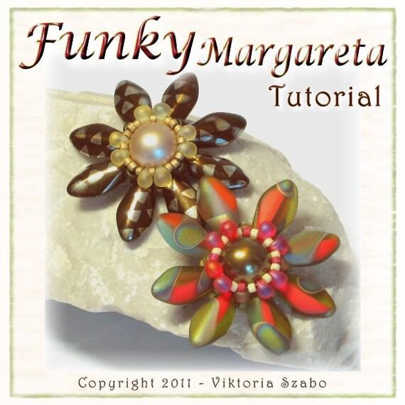 Flower Pendant Tutorial: Funky Margareta (Instant Download PDF)