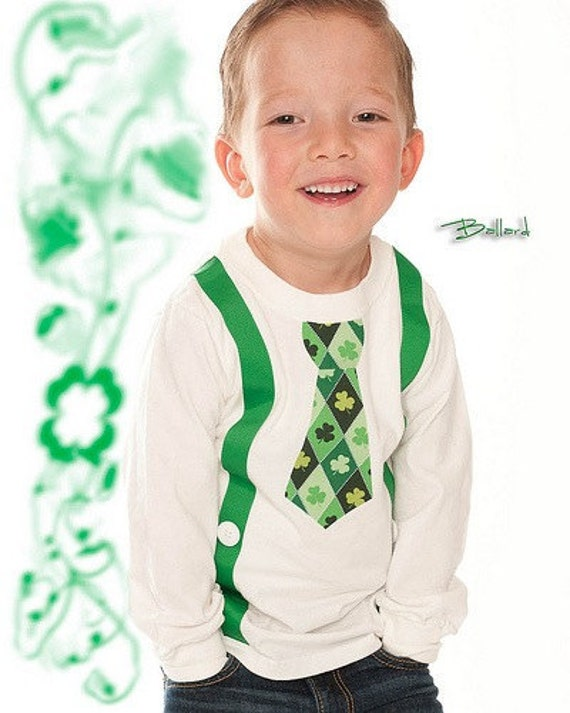 Lucky You Long Sleeve Tie/Suspender Shirt- ST. PATRICK'S DAY