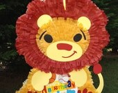 Lion Pinata.  Jungle Theme Pinata.  King of the Jungle.  Customizable Pinata