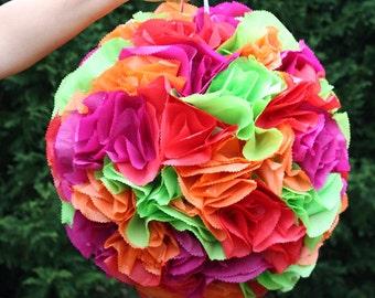 Flower Ball Pinata. Pomander.  Wedding Decor.  Bachelorette Party Activity.  Bridal Shower.