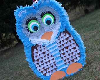 Owl Pinata -  Large Blue Owl Pinata