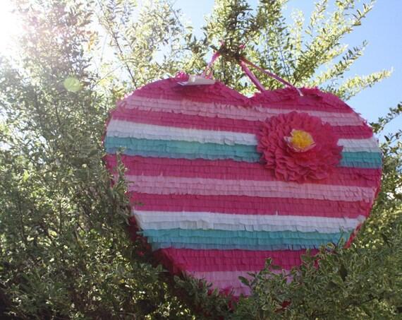 Beautiful Heart Pinata.  Wedding Decor.  Bridal Shower Activity. Bachelorette Party.