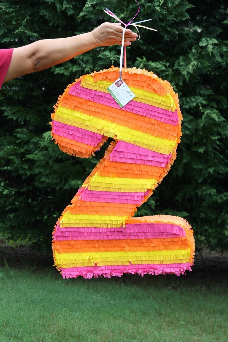 Number Two Pinata Large Number 2 Pinata Custom By Abitaachie