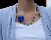 beads and bloom- blue dot.