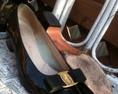 Vintage Salvatore Ferragamo Bow Flats--do not buy On hold for thevelvetbow until 3/22/11