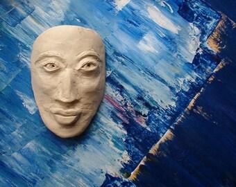 Hand sculpted Hawaiian face mask