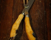 French Vintage Deer Hoof Taxidermy Cutlery