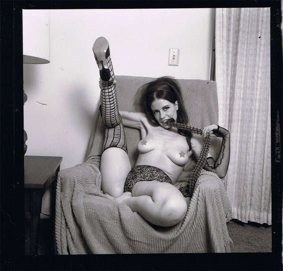 Vintage Erotic Contact Sheet 1960s--Do Not Open If Offended By Nudity