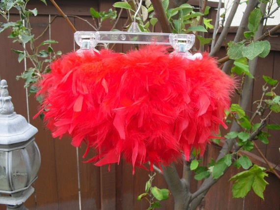 Baby's 1st Valentine, Red Feather Bloomer & Headband Set, Valentine Photo Prop, Red Feather Tutu, Red Feather Skirt, Red Feather Bloomer