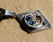 Steampunk Necklace Vintage Watch Movement. Item No. 515.
