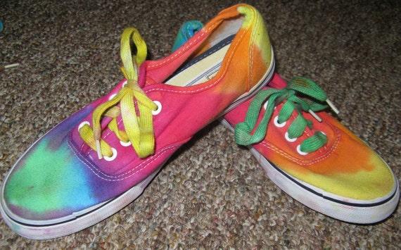Tie dye shoes - womens rainbow size 6