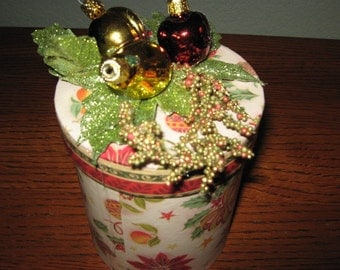 Holiday Fanciful Fruit Gift Box Christmas in July Sale