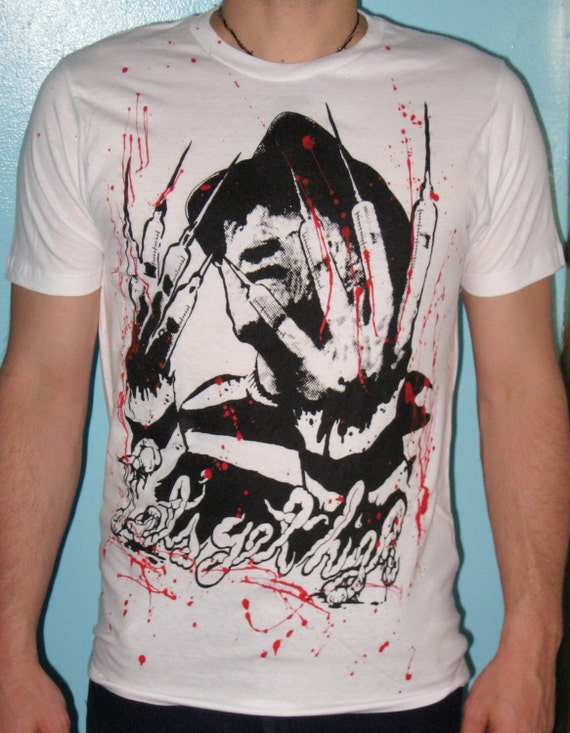 Getting High Off Fashion: Freddy Krueger Let's Get High Shirt Sizes