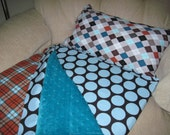 Reese nap mat with minky dot blanket