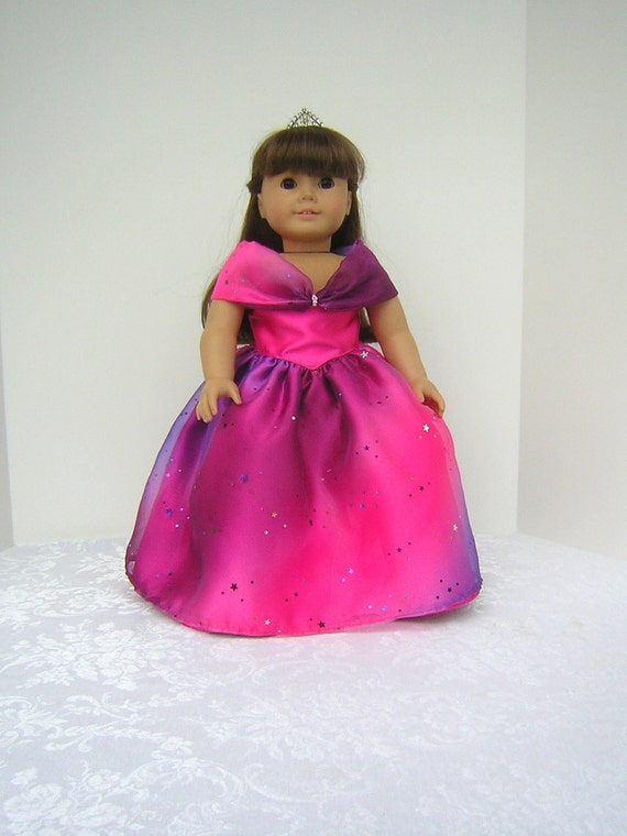 "Princess Dress with Pink Shoes for American Girl, other 18"" Dolls and Bitty Baby"