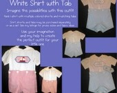 Button On Shorts with White Shirt and Button on Tab Size 1-T4