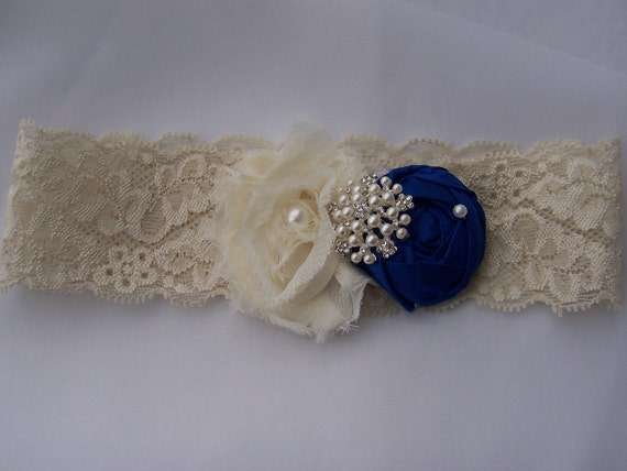 Custom for Ashley S Beautiful Silk and Chiffon Rosette on Ivory Lace Bridal Garter Pearl Cluster and your Choice of Silk Rose Color