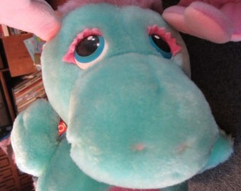Vintage 1984 Wuzzle Softies by Hasbro MOOSEL Half Moose & 1/2 Seal Walt Disney Prod Toy Doll kitschy cute
