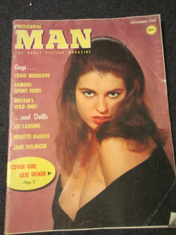 MODERN MAN November 1964 - the Adult Picture Magazine Cover Girl Ulee Deiker, Brigitte Bardot, Guys Craig Breedlove