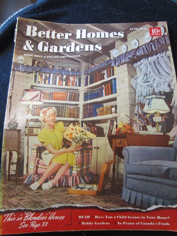 vintage magazine better homes and gardens by. Black Bedroom Furniture Sets. Home Design Ideas