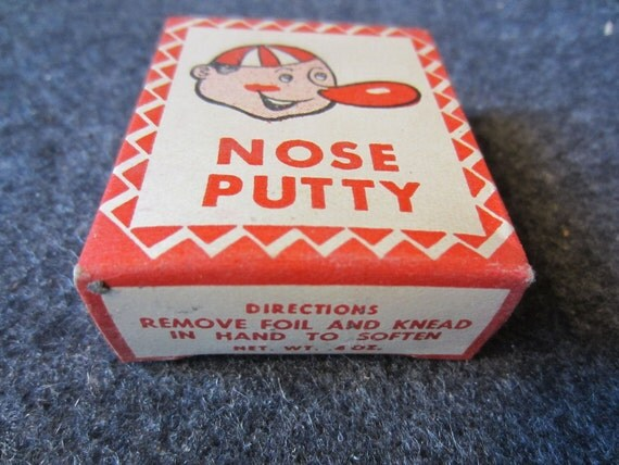 Vintage Clown Nose Putty in box by Thomas C. Dunham Inc. Yonkers NY Advertising Circus Make-up costume