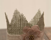 Sweet Sage Burlap Newborn Crown - Photography Prop