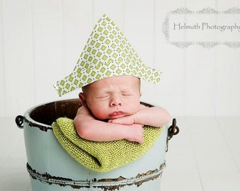 "Newborn Fabric ""Newspaper"" Sailor Hat, Newborn Photography Prop, Newspaper Hat, Baby Hat, Infant Hat"