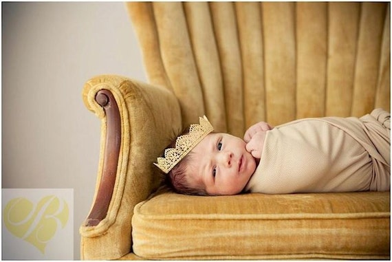 Newborn Lace Crown, Handpainted Lace Crown, Newborn Photography Prop, You Choose Your Color, Baby Crown, Girl Crown
