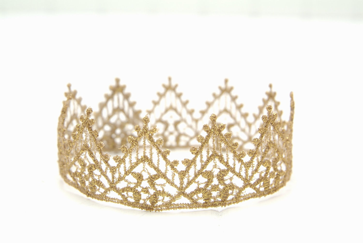Beautiful Gold Newborn Lace Crown Photography By