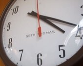 for sara- Saved By The Bell - Vintage Seth Thomas Domed Wall Clock with Bell - Old School, literally.