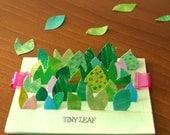 "cute leaf stickers-""TINY LEAF"""
