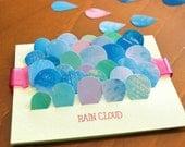 """cute rain drop stickers-""""TINY RAIN CLOUD"""""""