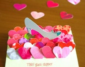 "Lovely Heart Stickers-""TINY glass slipper"""