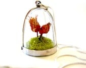 Sale 20% Off & Free US Shipping Pretty Flower and Moss Terrarium Necklace