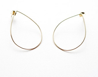 "14 kt gold ""Jen"" teardrop earrings"