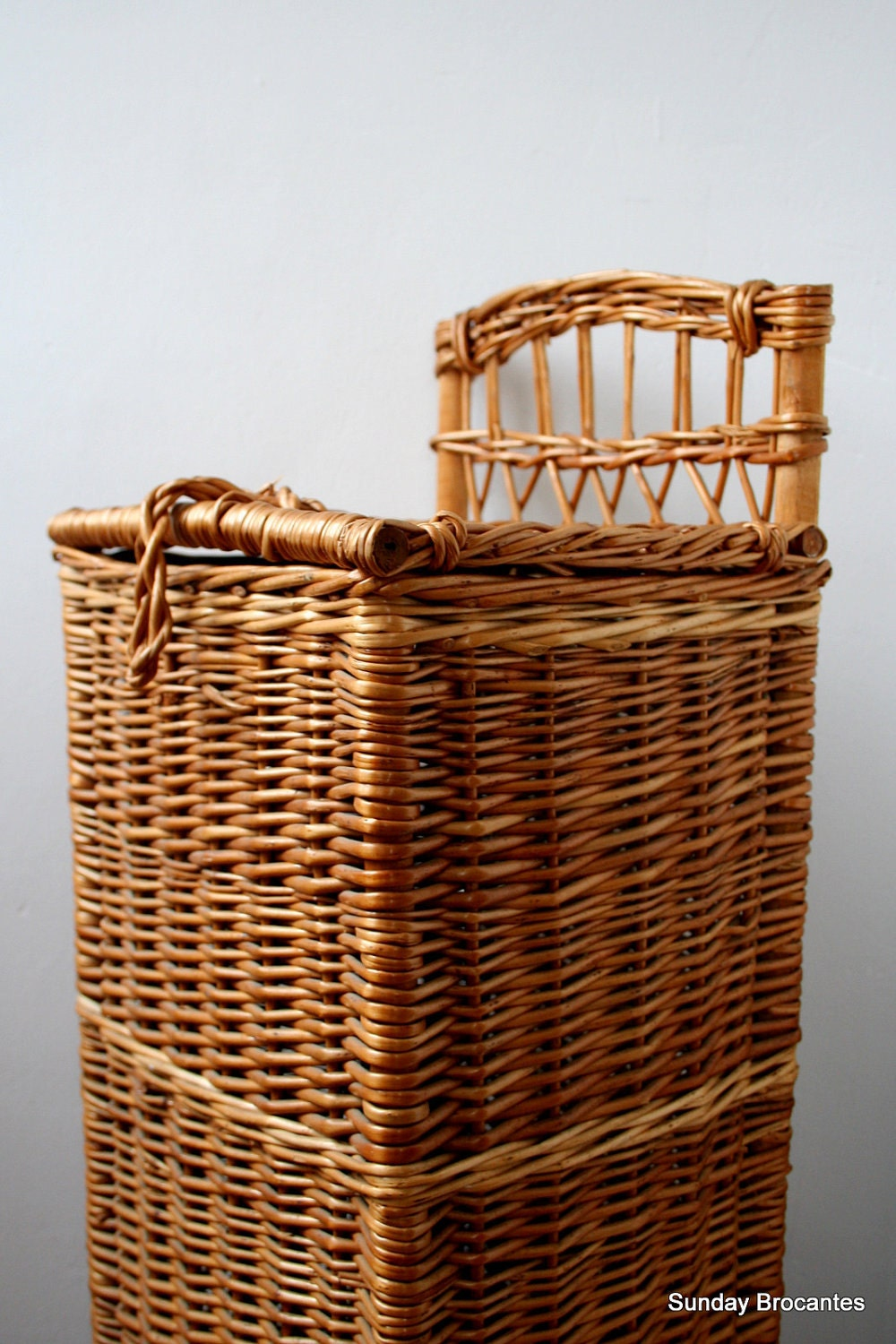 french wicker baguette basket. Black Bedroom Furniture Sets. Home Design Ideas