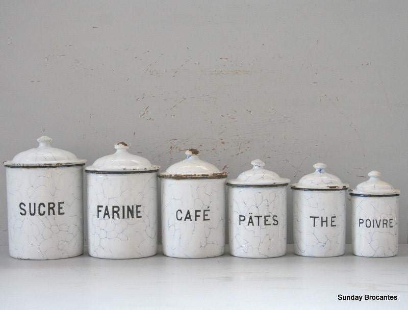 enamel kitchen canisters white enamel canister set 3708