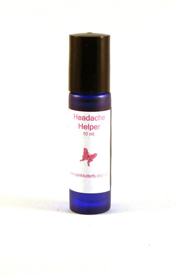 Headache Helper Organic Aromatherapy Oil - Organic Essential Oils - Roll-On Bottle - 10 ml - Vegan