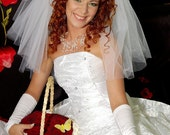 Danielle Classic  Shoulder 2-Tiers Bridal Veil Extra Fulness