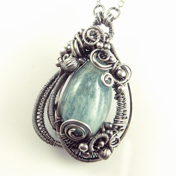 RESERVED FOR KANIN - Aquamarine Mermaid Amulet Queen