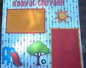 Scrapbook Premade 12 x 12 Page A Day at the Park
