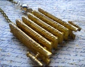 BLING Gold tone Radiator Pendant with Bead detail