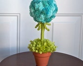 Whimsical Topiary Made of Soft Yarn