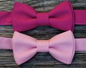 Valentine's Day Photo Prop - Boys Pink Bow Tie  - Fuchsia Bow Tie -- Hot Pink Bowtie - Pink Bow Tie - Valentine's Day Bow Tie - Baby Pink