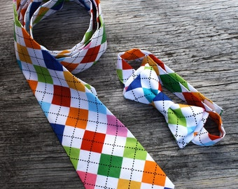 Father and Son Matching Tie Set, Pick your Favorite Fabric