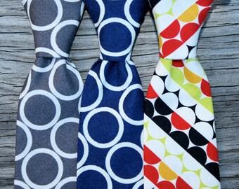 Neck Tie for Boys -- Navy Tie for Boys -- Gray Tie