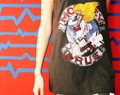 Motley Crue Heavy Metal Hard Rock Black Singlet Tank Top Women Size L