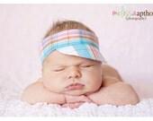Newborn Visor Photo Prop, Pink Blue Orange and White