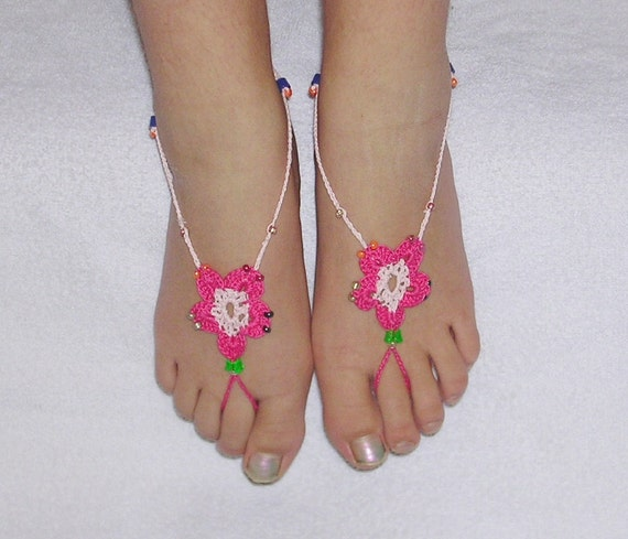 Barefoot Sandals - Flower style